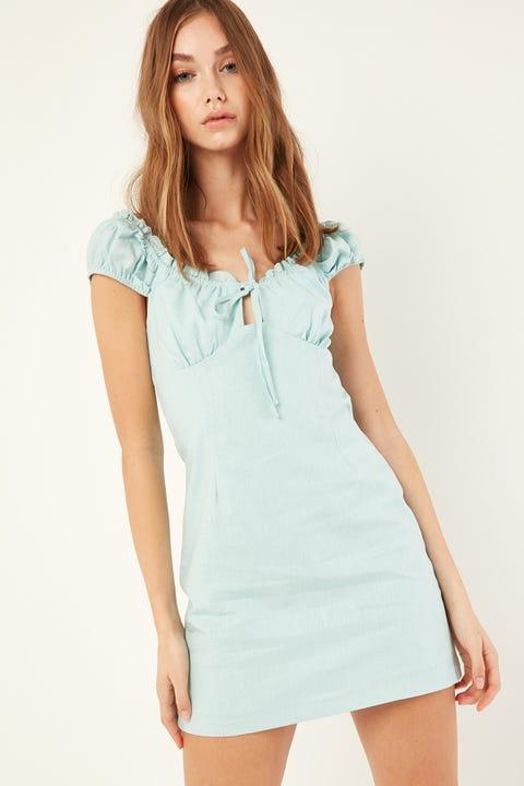 PERFECT STRANGER Malibu Mini Dress Blue