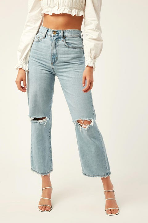 NOBODY DENIM Lou Jean Crop Revere