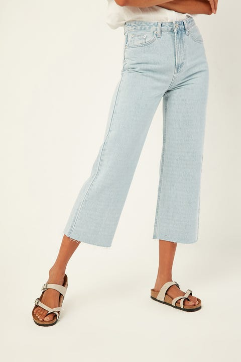 ASSEMBLY High Waist Flare Jean Pacific Blue