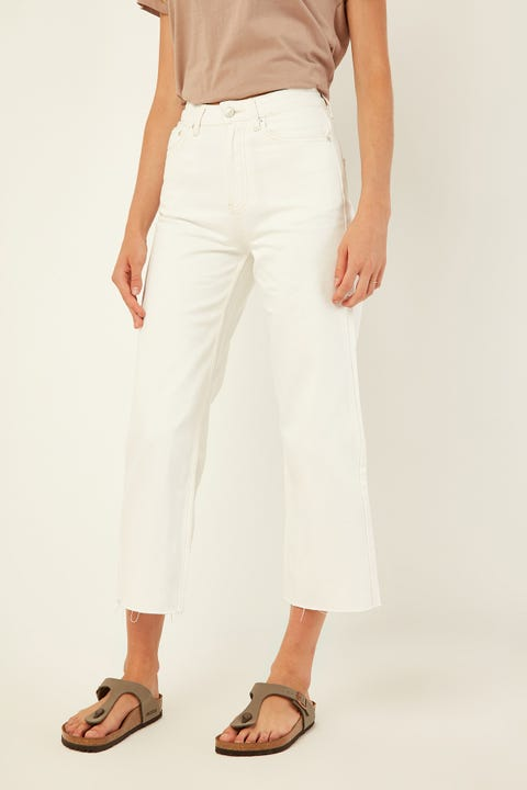 Assembly High Waist Flare Jean Vintage White