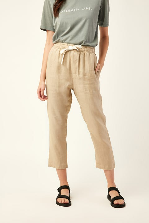 Assembly Anya Linen Pants Dover