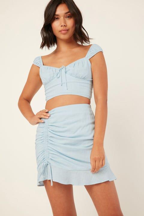 PERFECT STRANGER Aurelie Mini Skirt Blue