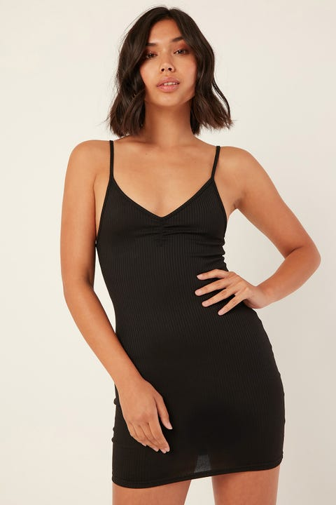L&T Classic Mini Dress Black