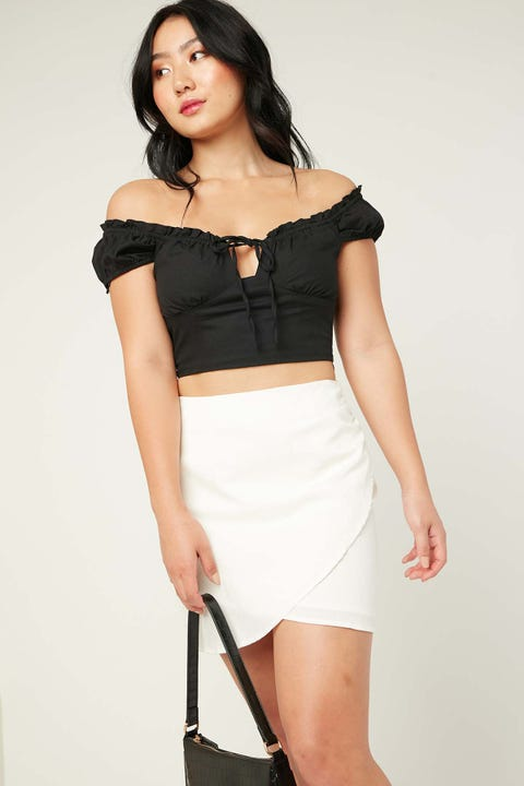 Perfect Stranger Formation Mini Skirt White