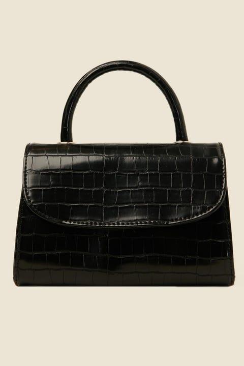 TOKEN Dress Me Up Croc Handbag Black