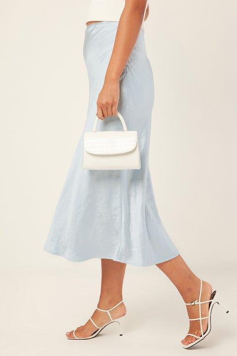 PERFECT STRANGER Glimmer Midi Skirt Blue