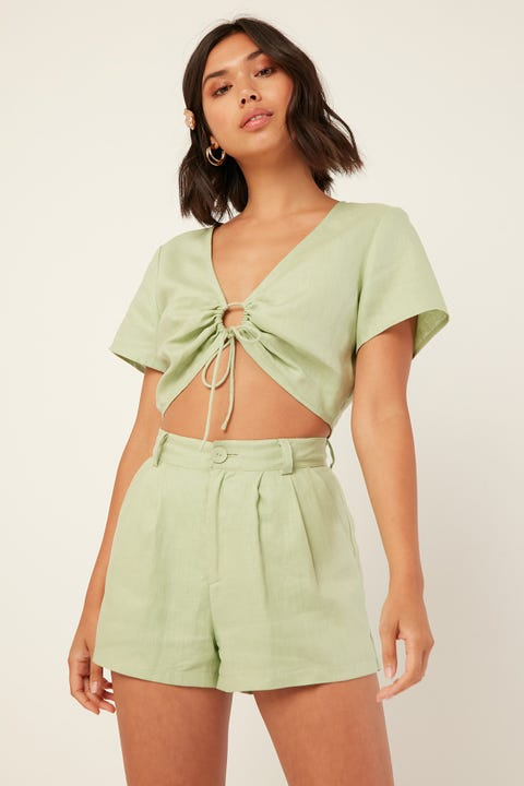PERFECT STRANGER Amour Short Green