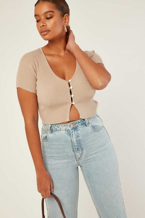 PERFECT STRANGER One Night Knit Top Nude