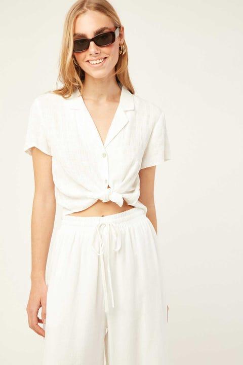 PERFECT STRANGER Easy Short Sleeve Shirt White
