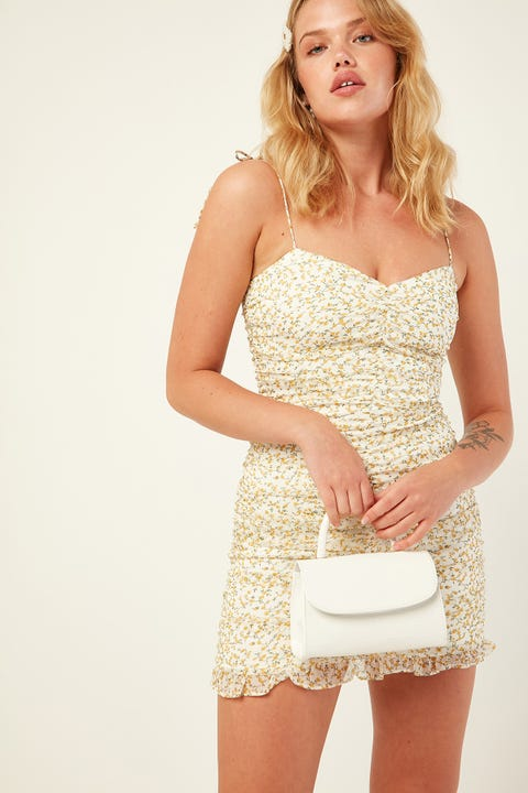 PERFECT STRANGER Cyprus Mini Dress White Print