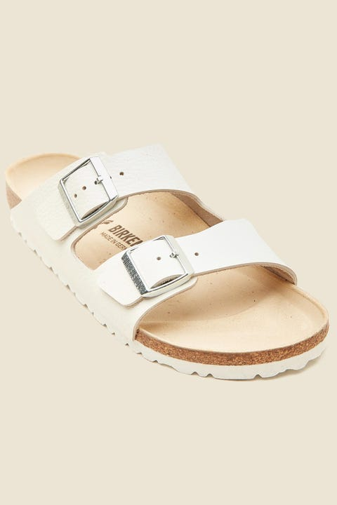 Birkenstock Womens Arizona Smooth Leather Narrow White