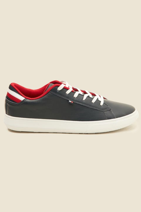 TOMMY JEANS Essential Leather Sneaker Navy
