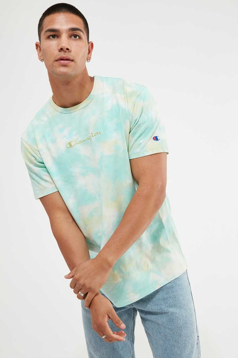 Champion Heritage Cloud Dye Tee Cloud Dye Citrus Lime