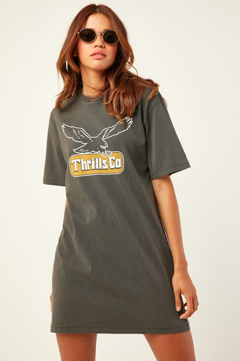 THRILLS Landed Merch Tee Dress Merch Black