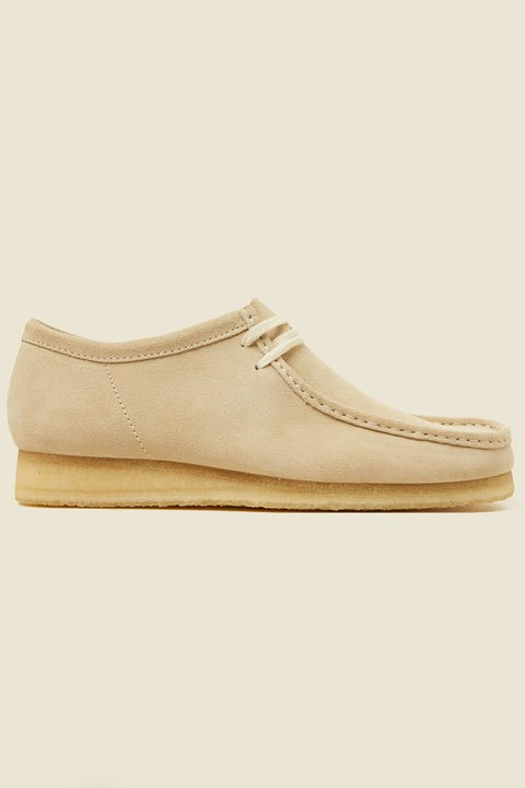 Clarks Wallabee 2 Off White Suede