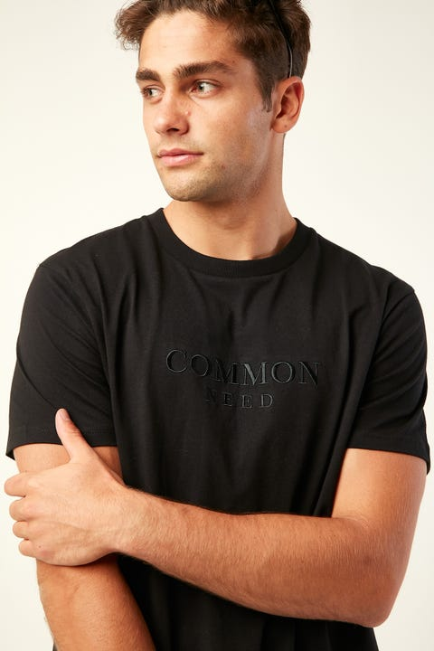 COMMON NEED Onyx Tee Black