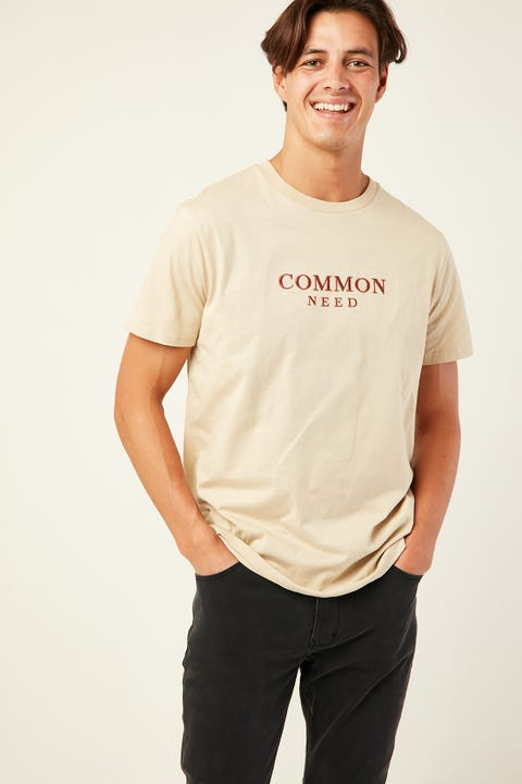 COMMON NEED Granite Tee Oatmeal