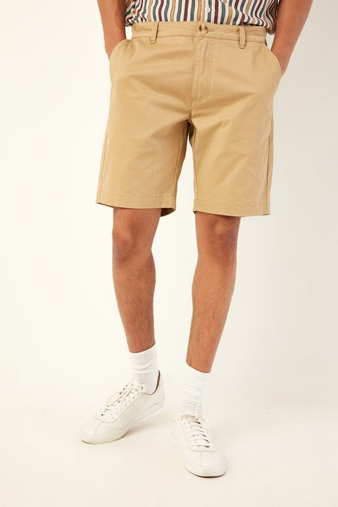 Common Need Slim Chino Short Sand