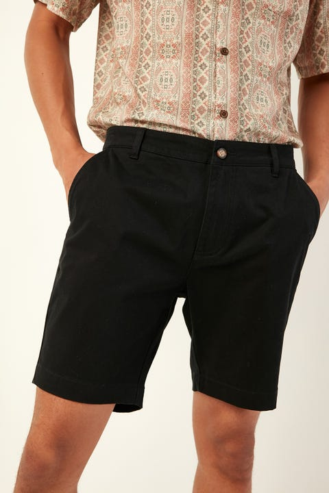 Common Need Slim Chino Short Black