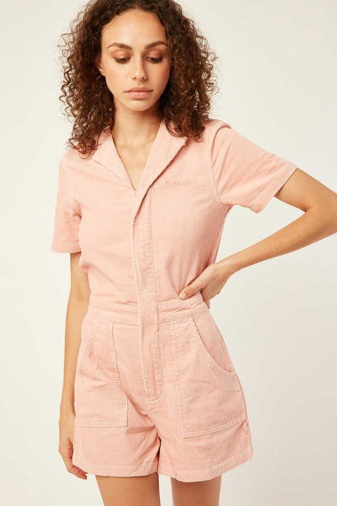 WRANGLER Jeanie Romper Dusty Rose
