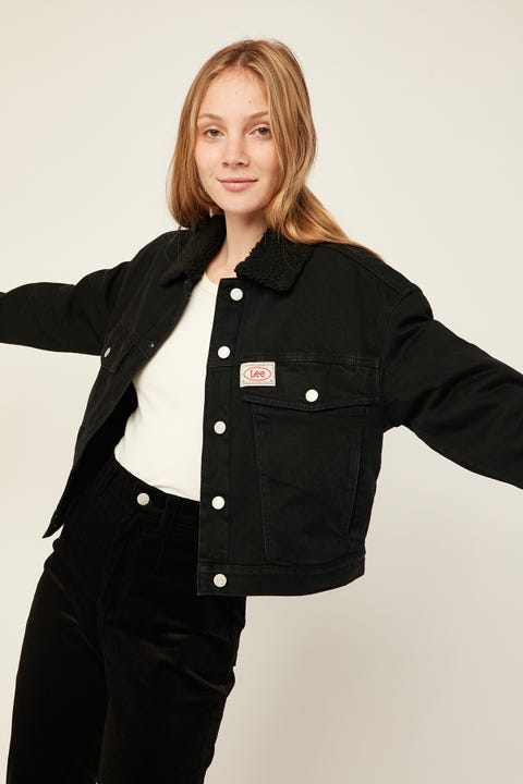 LEE Volume Sherpa Jacket Bare Black
