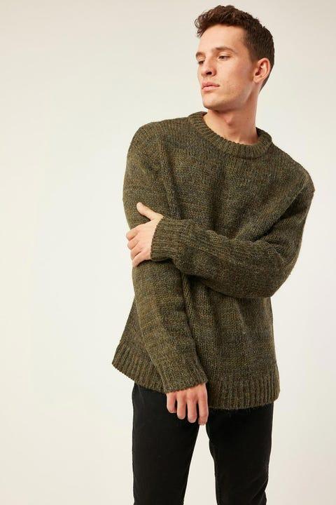 WRANGLER Garage Sweater Winter Moss