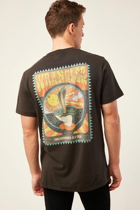 WRANGLER Cobra SS Tee Worn Black