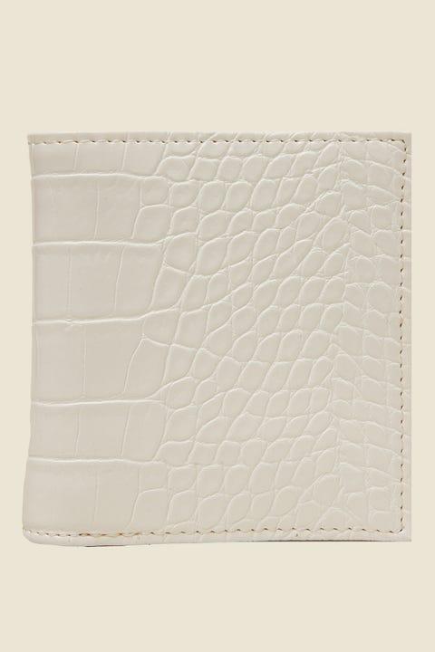 TOKEN Fold Over Croc Wallet White