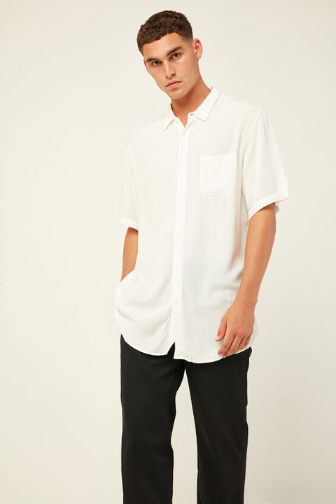 COMMON NEED Rotation Party Shirt Optical White
