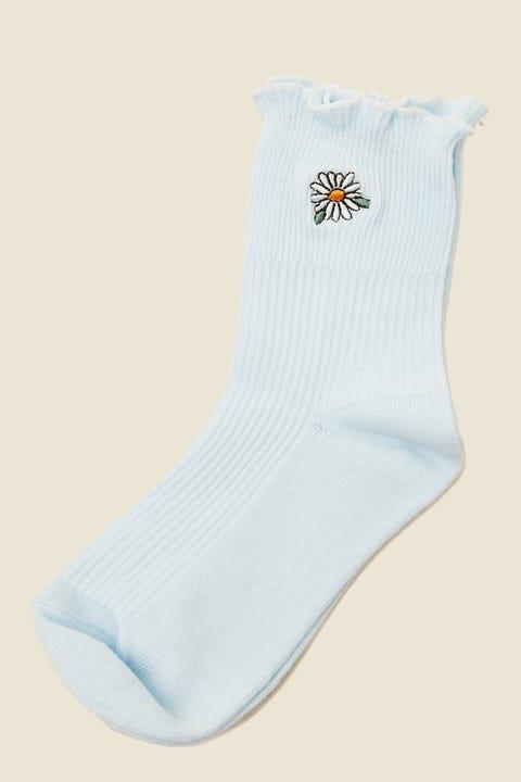 Token Daisy Dion Sock Blue
