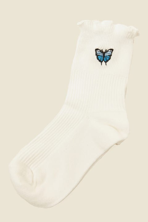 TOKEN Butterfly Dion Sock White