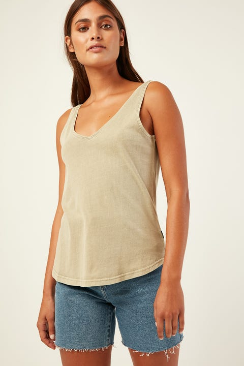 SILENT THEORY Ricky Tank Beige
