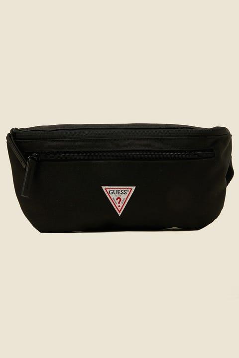 GUESS ORIGINALS Side Classic Triangle Logo Bumbag Black