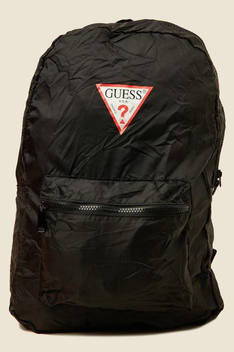 GUESS ORIGINALS Classic Triangle Logo Foldable Backpack Black