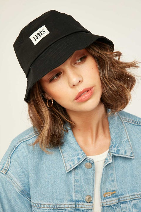 LEVI'S Serif Bucket Hat Black