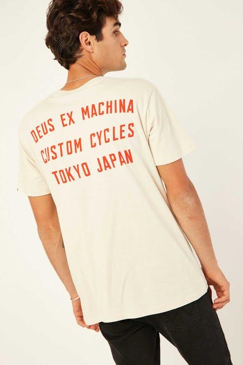 Deus Ex Machina Speed Stix Tee Vintage White