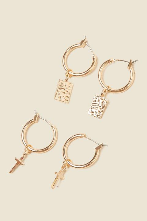 TOKEN Charmed Hoop Earring Pack Gold