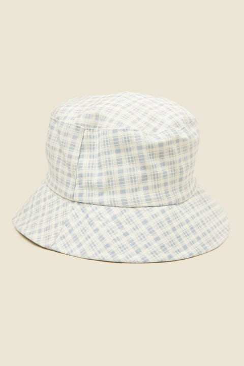 TOKEN Check Bucket Hat Blue Print