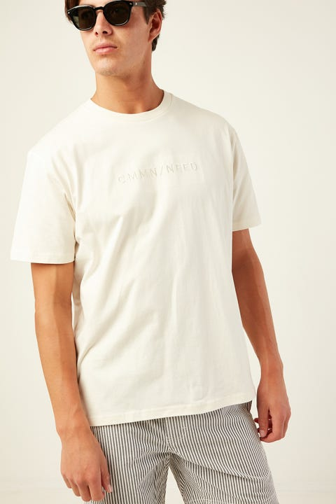 COMMON NEED Clouded Tee Ecru