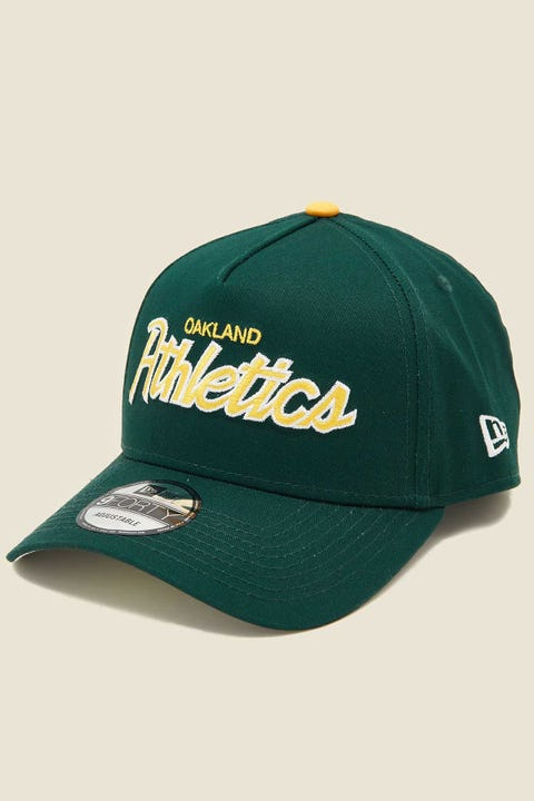 NEW ERA 9Forty A-Frame Snapback Oakland Athletics Green/Grey