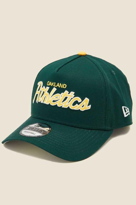NEW ERA 9Forty A-Frame Snapback Oakland Athletics Green/Grey