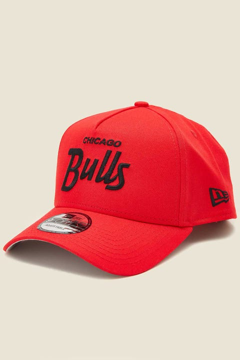 New Era 9Forty A-Frame Snapback Chicago Bulls Front Door Red/Grey