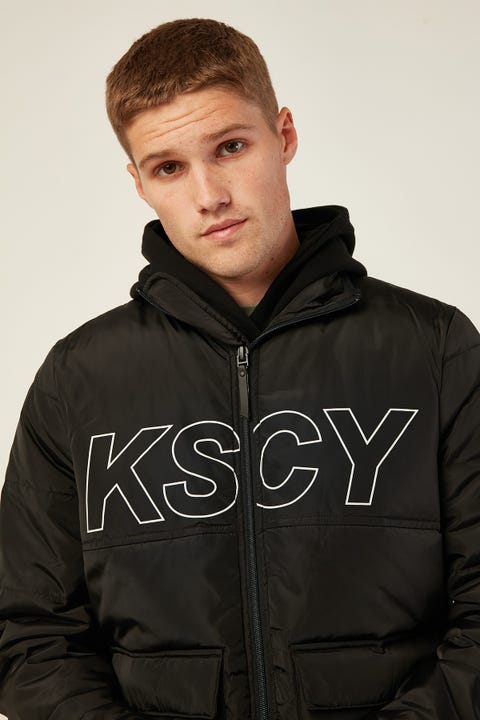KISS CHACEY Republic Puffer Jacket Jet Black