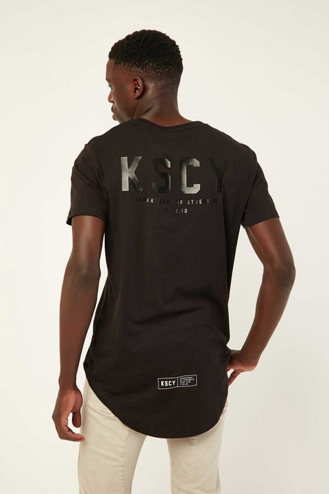 KISS CHACEY Department Of Strength Baseball Tee Jet Black
