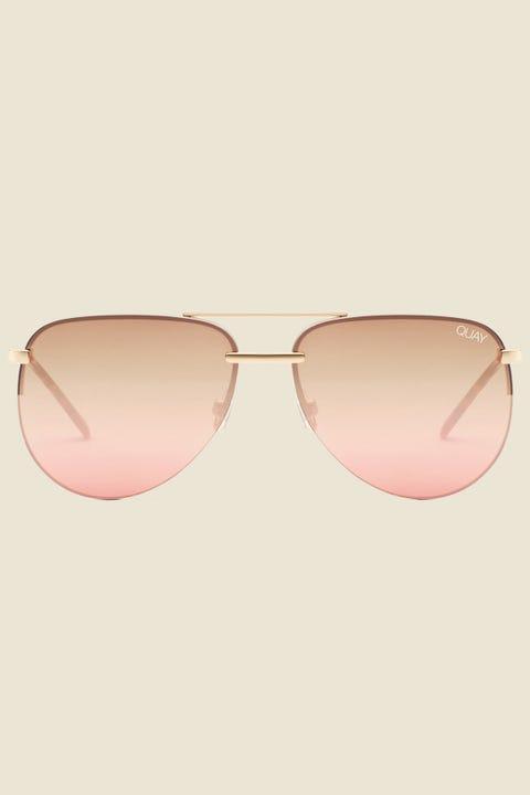 QUAY The Playa Gold/Brown Pink Fls