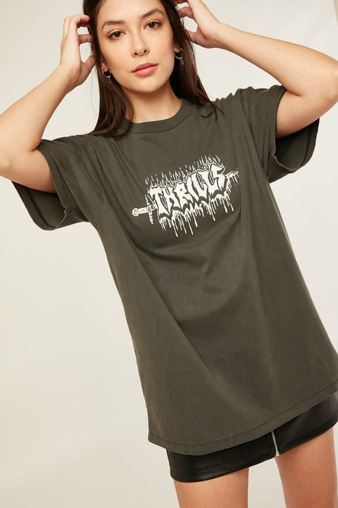 Thrills Mayhem Merch Tee Merch Black