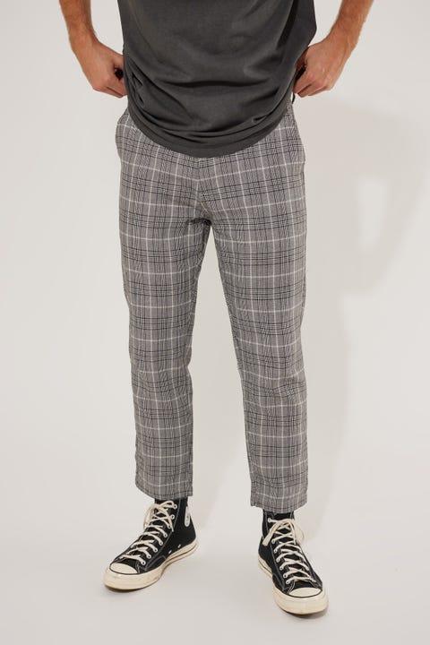Thrills London Check Chopped Pant Grey Check