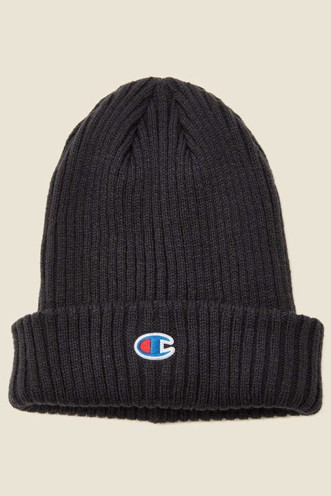 Champion C Logo Ribbed Beanie Navy