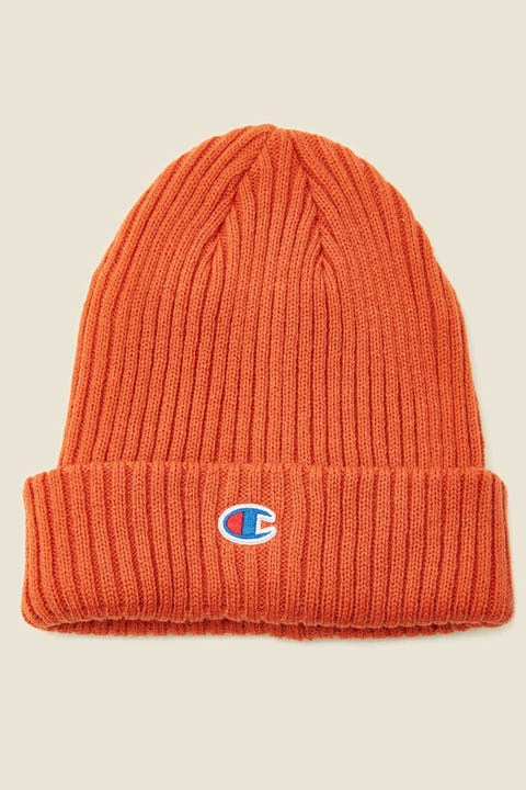 Champion C Logo Ribbed Beanie Ambitious Orange