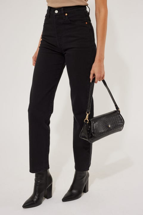 Levi's Ribcage Straight Ankle Black Heart
